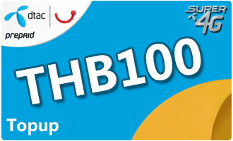 dtac Easy Topup THB100