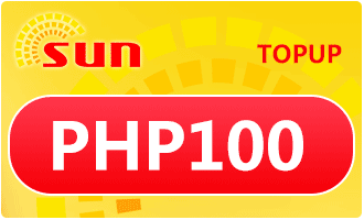 SUN TOPUP PHP 100