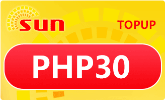 SUN TOPUP PHP 30