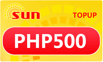 SUN TOPUP PHP 500